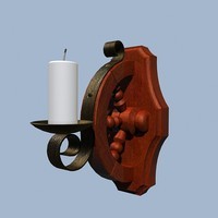 3d model wall candle