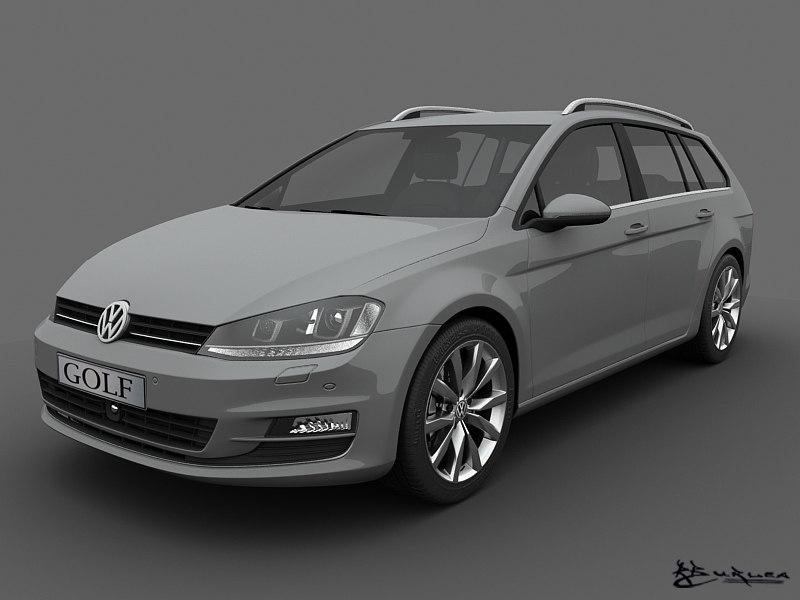 3d Max Volkswagen Golf Variant 2014