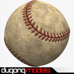 dugm09 dirty baseball obj