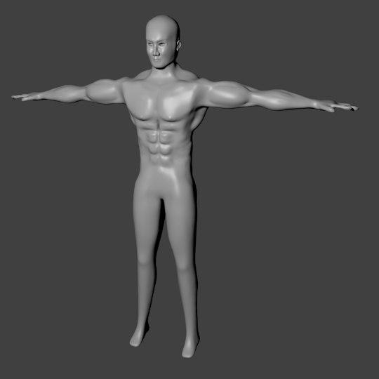 free man body 3d model