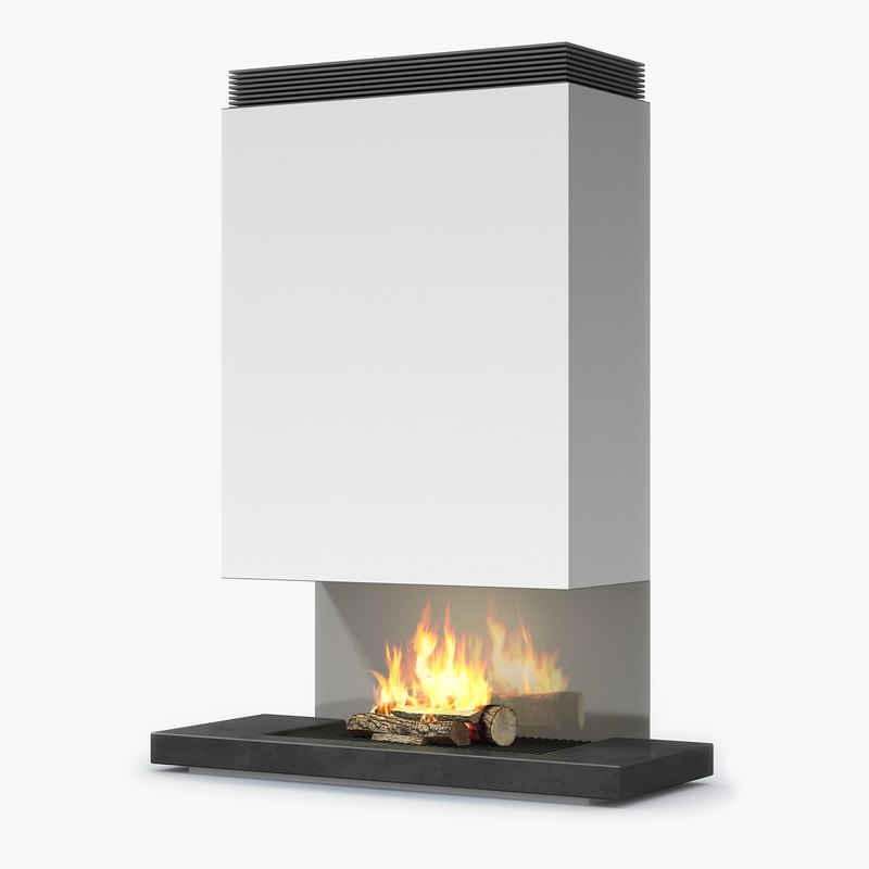 modern fireplace 3d 3ds