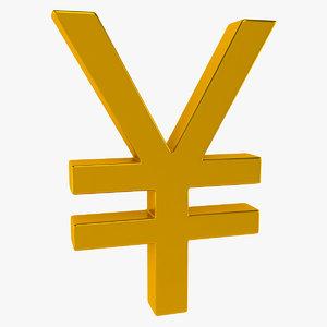 3d monetary symbol