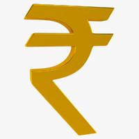 3d monetary symbol model