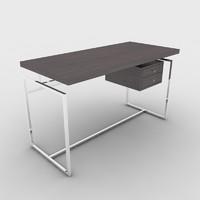 3d papiro desk porada model