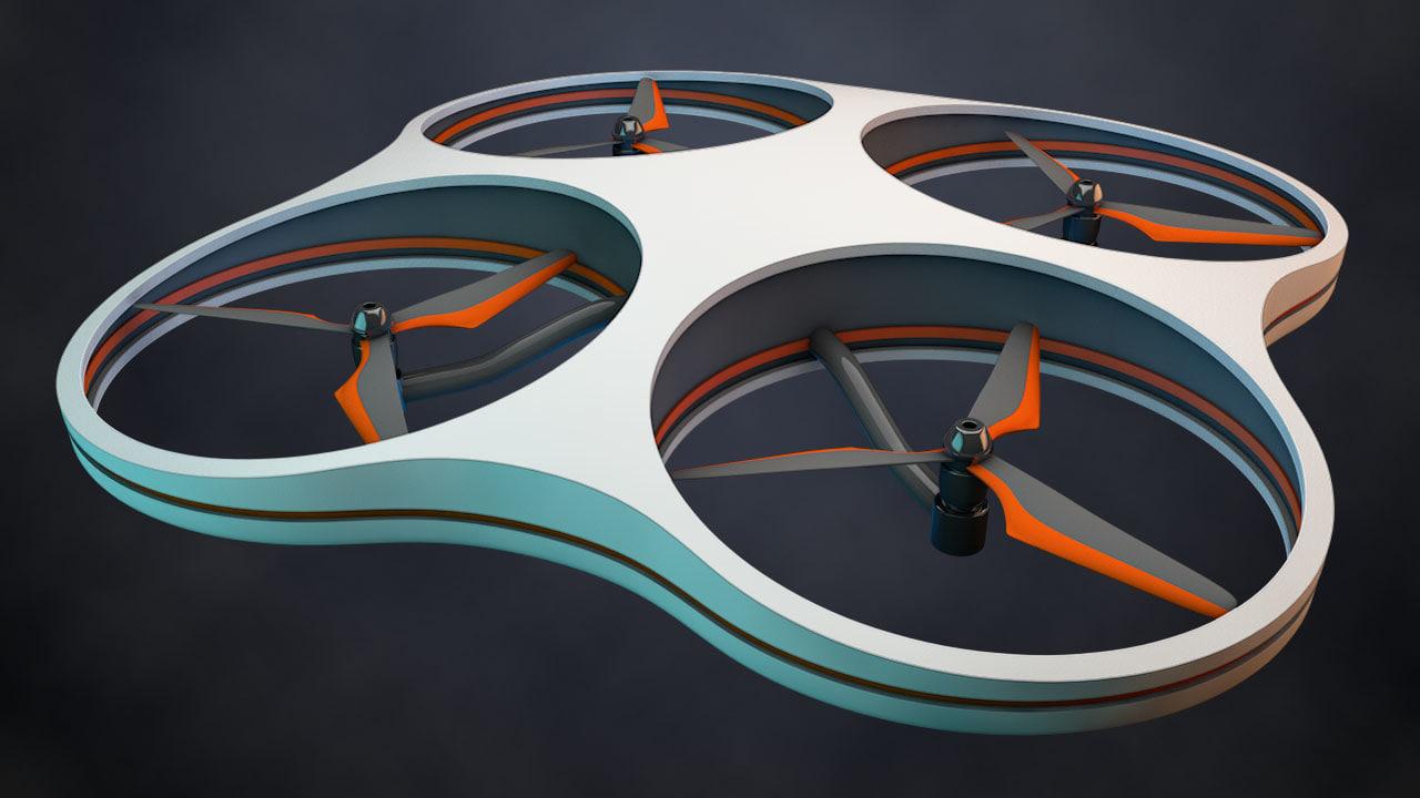 3d c4d quadrocopter copter