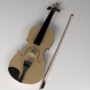 violin bow 3d model