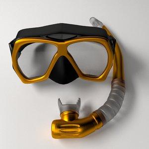 3ds snorkel mask