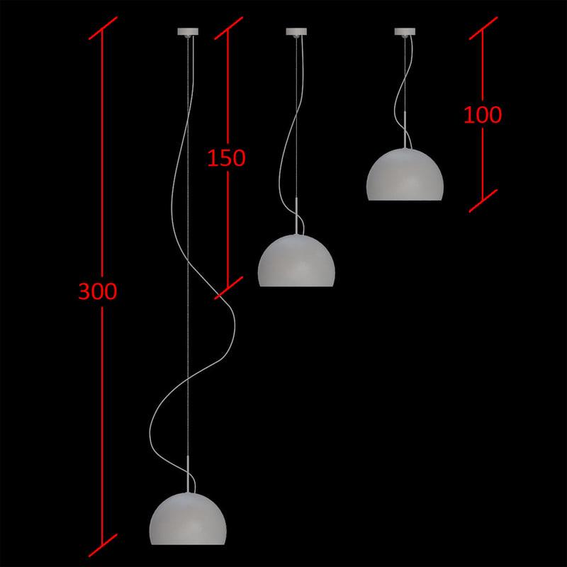 3d ceiling lamp prandina biluna