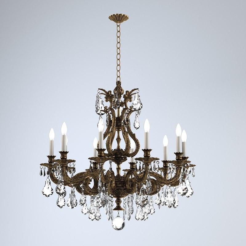 3d model of schonbek sophia chandelier