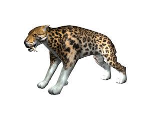 3d model cat sabertooth