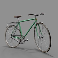 3d model urban bicycle