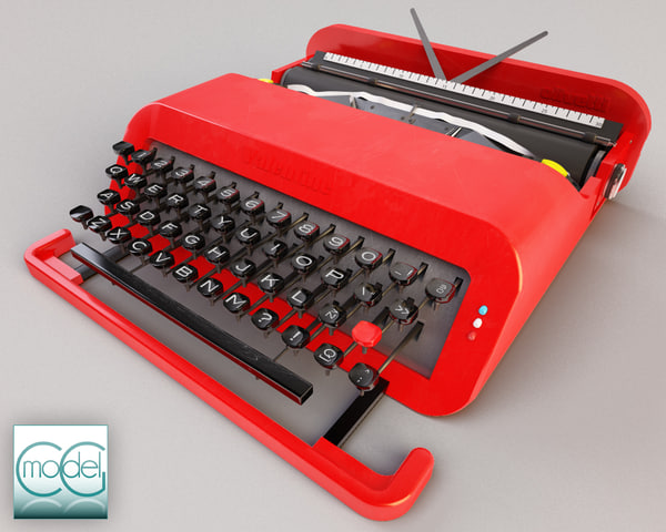 Typewriter 3D Models for Download | TurboSquid