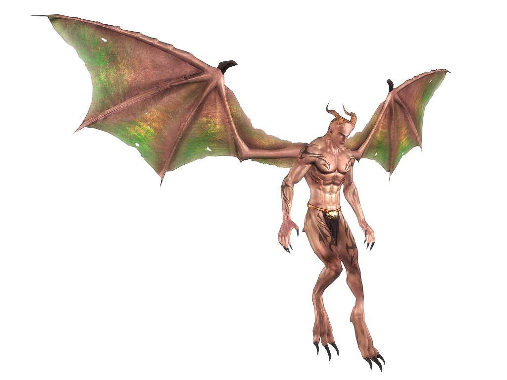 3d model gargoyles winged demonic