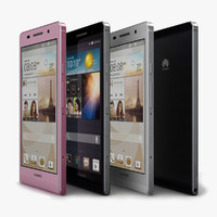 huawei ascend p6 color 3d model