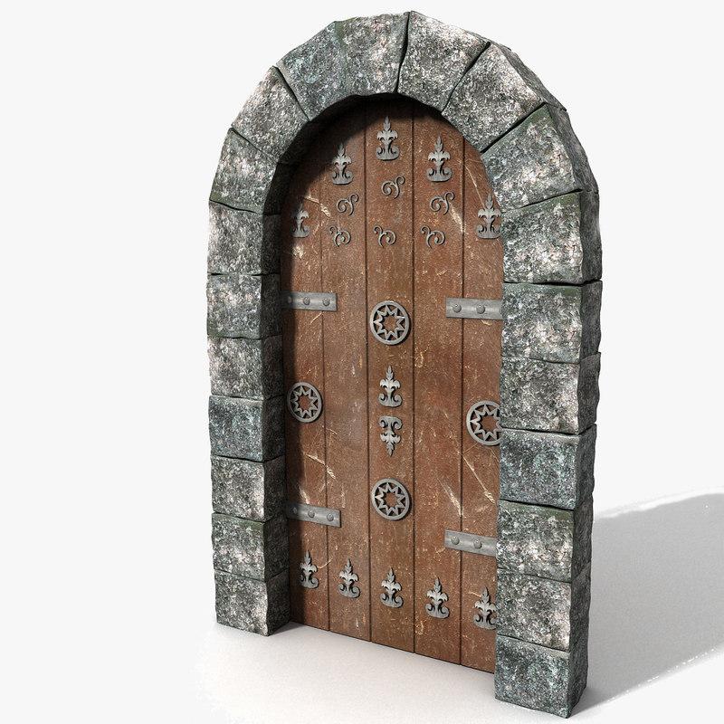 Medieval door texture texture png door medieval - 3d Old Passage