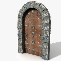 Medieval Castle Wood Door