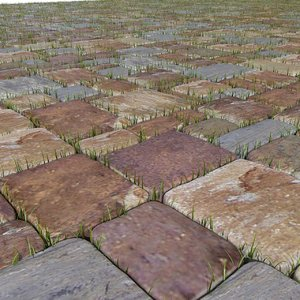 max block grass stones