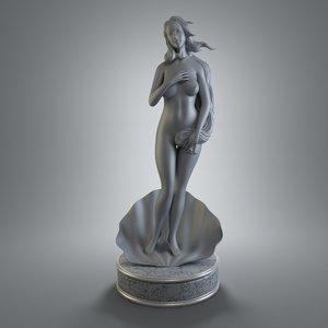 3ds max female figurine art