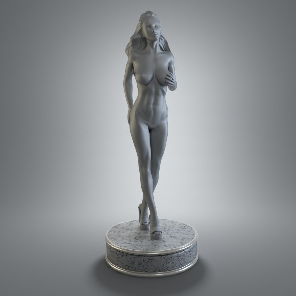 female figurine art 3d model