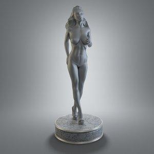 female figurine art 3d model