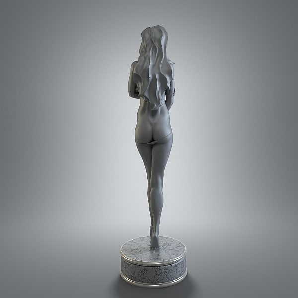 3d female figurine art model