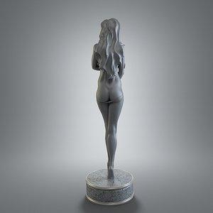 3d female figurine art model