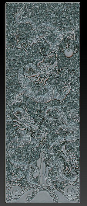 3d obj dragon qing dynasty gate