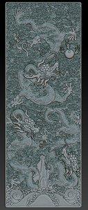 3d obj dragon qing dynasty gate