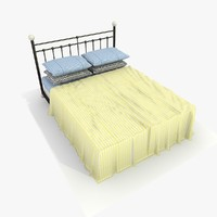 bed yellow sheet 3ds