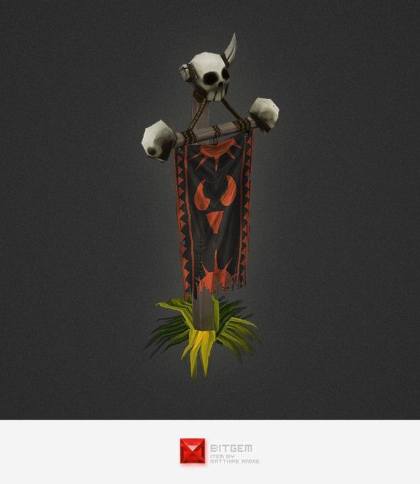 maya hand painted orc banner