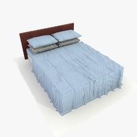 bed blue 3d model