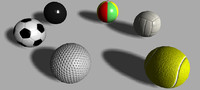 ball volley bowling 3d max