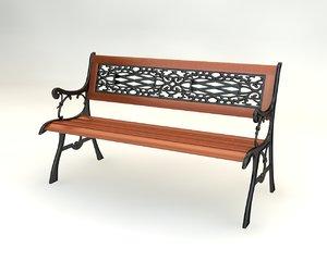 cinema4d garden bench
