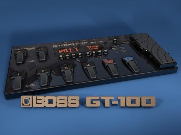 3d guitar boss gt100 model