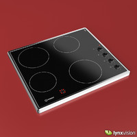 ceramic electric hob indesit 3d model