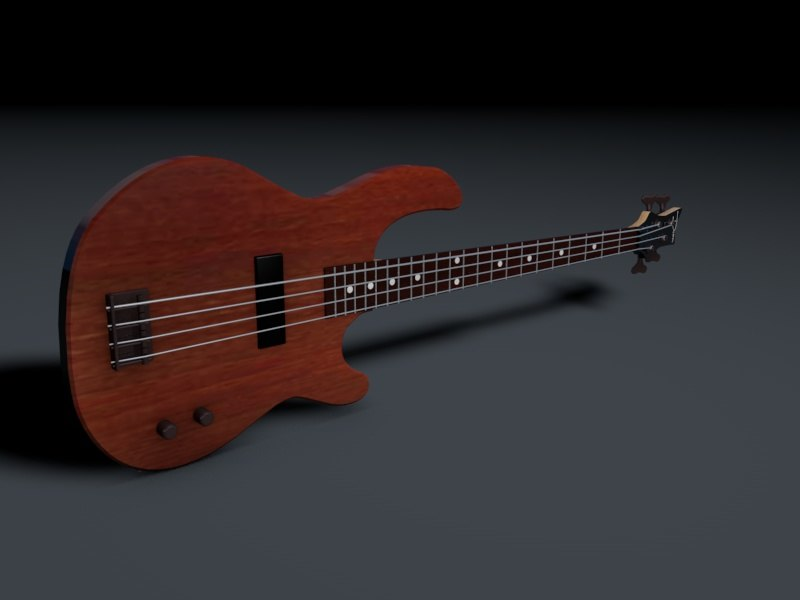 3d bass guitar dean edge model