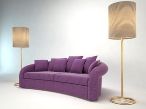 3d armani sofa esther model