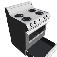 Stove / Oven With Opening Door and Drawer: Max Format