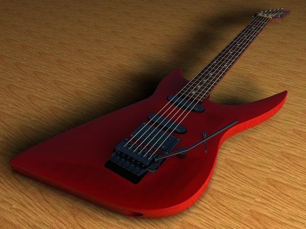 ibanez wrb-3 guitar 3d obj