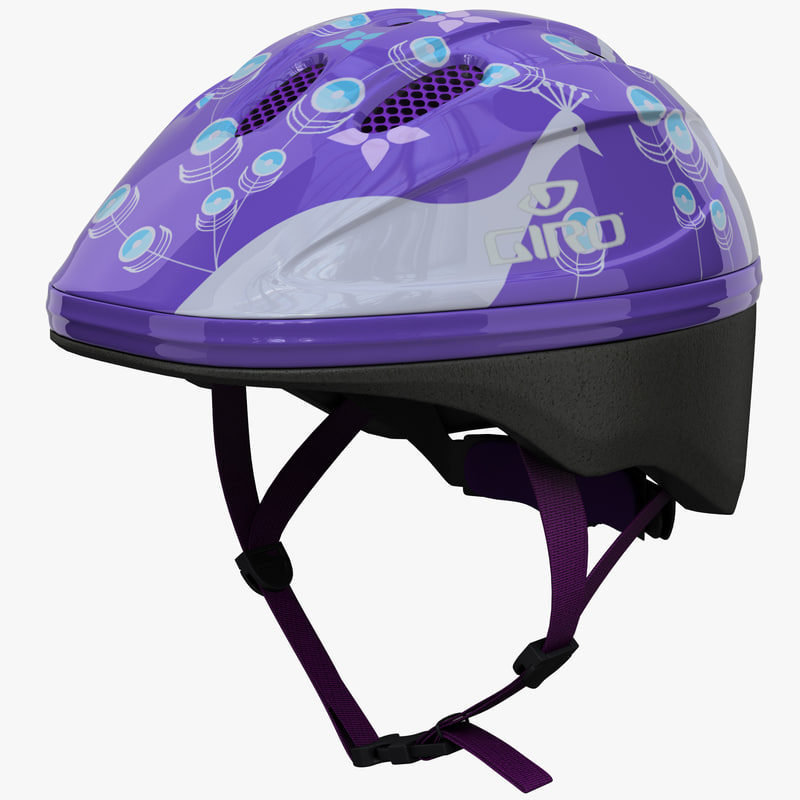 infant bike helmet giro 3d model