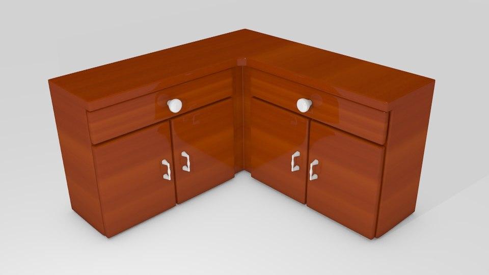 free 3ds model kitchen cabinet corner