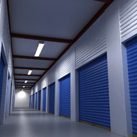 3d model of self storage unit