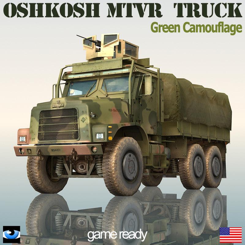 3d oshkosh mtvr military truck model
