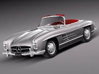 classic antique mercedes mercedes-benz 3d ma