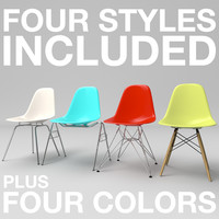 3ds max eames plastic chairs 1