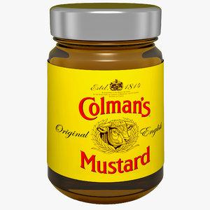 max mustard bottle colmans