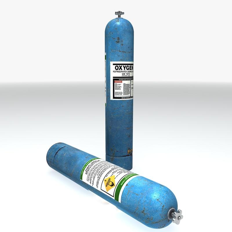 pressurised oxygen canister obj