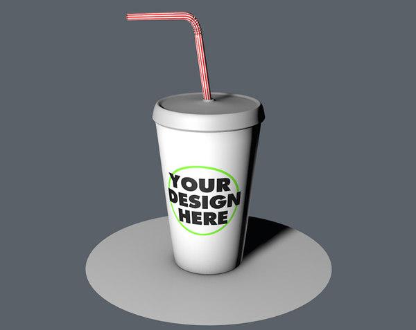 c4d plastic cup