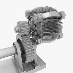 motor worm gear 3d model
