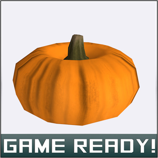autumn pumpkin 6 fbx